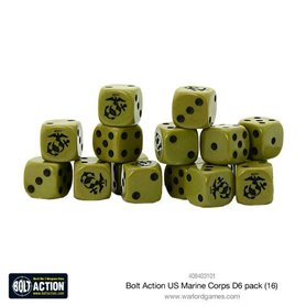 Bolt Action US Marine Corps D6 Dice (16)
