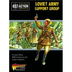 Bolt Action SOVIET ARMY SUPPORT GROUP - HQ, MORTAR AND MMG