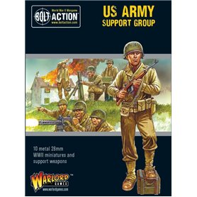 Bolt Action US Army Support Group (HQ, Mortar & MMG)