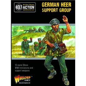 Bolt Action German Heer Support Group (HQ, Mortar & MMG)