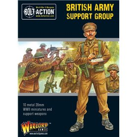 Bolt Action British Army Support Group (HQ, Mortar & MMG)