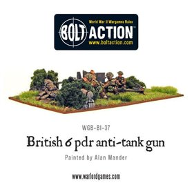 Bolt Action British Army 6 Pounder ATG & Crew