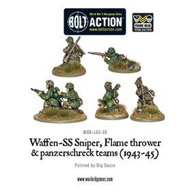 Bolt Action Waffen-SS Sniper, Flamethrower and Panzerschreck teams