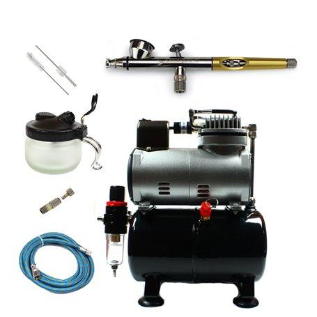Aerograf i kompresor - zestaw AirViper 0,2mm + akcesoria