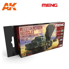Meng Zestaw farb RUSSIAN MODERN VEHICLES CAMOUFLAGE COLORS - cz.2