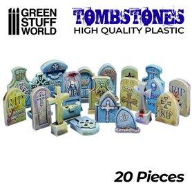 Green Stuf World Plastic Gravestones 20pcs
