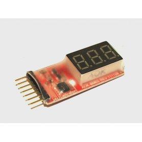 Wskaźnik napięcia LCD 2-6 ogniw LiPo