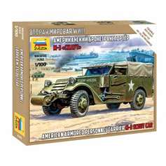 Zvezda 1:100 M3 Scout Car - AMERICAN ARMORED PERSONNEL CARRIER
