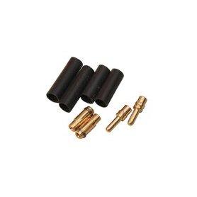 Konektory pozłacane typu Banan Gold 2,5mm MPJET 3 pary 1,5mm2