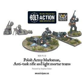 Bolt Action Polish Army Marksmen, Anti-Tank Rifle & Light Mortar