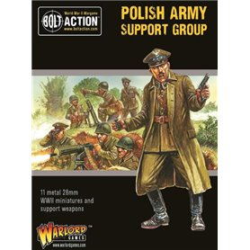 Bolt Action Polish Army Support Group (HQ, Mortar & MMG)