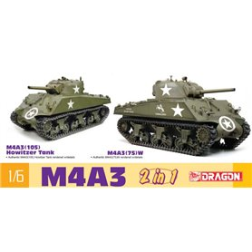 Dragon 75055 1/6 M4A3 105mm/M4A3(75) W (2 in 1)