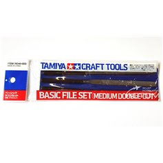 Tamiya 74046 Pilniki modelarskie - BASIC FILE SET - MEDIUM DOUBLE-CUT - 3szt.