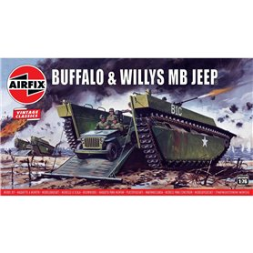 Airfix 02302V Buffalo Amphibian LVT & Jeep