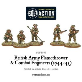 Bolt Action BRITISH ARMY - COMBAT ENGINEERS AND FLAMETHOWER TEAM