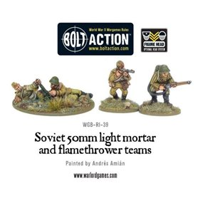Bolt Action SOVIET ARMY 50MM LIGHT MORTAR AND FLAMETHOWER TEAMS