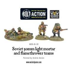 Bolt Action SOVIET ARMY 50MM LIGHT MORTAR AND FLAMETHOWER TEAMS