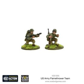 US Army Flamethrower team