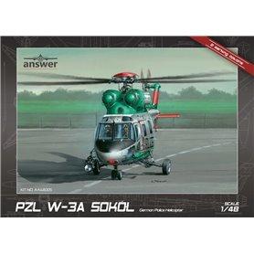 Answer AA48005 1/48 PZL W-3A Sokół German Police Halicopter