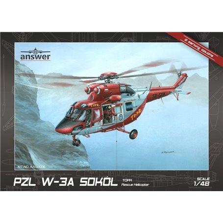 "Answer AA48006 1/48 PZL W-3A Sokół ""TOPR Rescue Helicopter"""