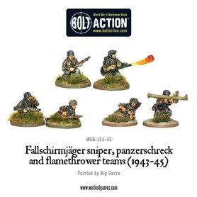 Bolt Action Fallschirmjager Panzerschrek, sniper and flamethrower teams