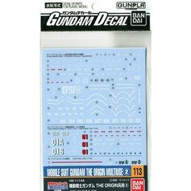 Bandai 12935 Gundam Decal 113 Ms Gundam The Origin Multiuse 2 GUN80034
