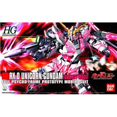 Bandai HG 1:144 RX-0 UNICORN GUNDAM - DESTROY MODEL - FULL PSYCHO-FRAME PROTOTYPE MOBILE SUIT