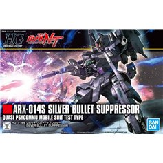 Bandai HG 1:144 ARX-014S SILVER BULLET SUPPRESSOR - QUASI PSYCOMMU MOBILE SUIT TEST TYPE