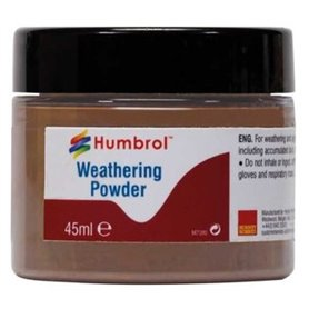 Humbrol AV0019 Weathering Powder Dark Rust - 45ml