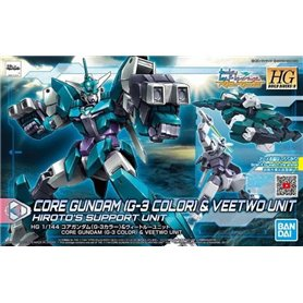 Bandai 83000 HGBD:R 1/144 Core Gundam (G3 Color) & Veetwo Unit GUN58300