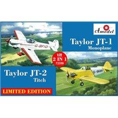 Amodel 1:72 Taylor JT-1(G-AXYK) + Taylor JT-2 (G-AYZH) - 2IN1