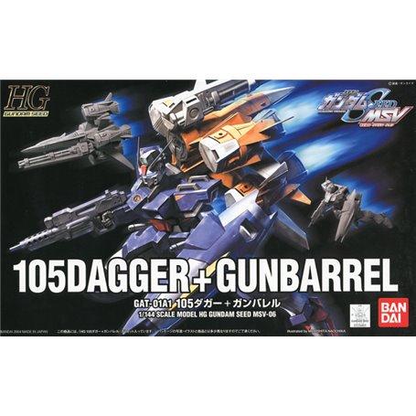 Bandai 68137 HG 1/144 105 Dagger + Gunbarrel GUN56813