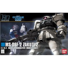 Bandai HG 1:144 MS-06F-2 ZAKU II F2 - E.F.S.F. MASS PRODUCTIVE MOBILE SUIT