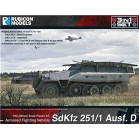 Rubicon Models 1:56 Sd.Kfz.251/1 Ausf.D - ARMORED FIGHTING VEHICLE