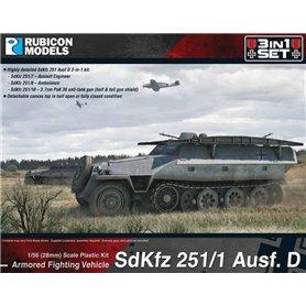 Rubicon Models 1:56 SdKfz 251D 3-in-1 Set 1