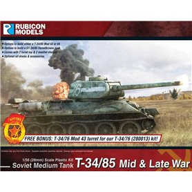 Rubicon Models 1:56 T-34/85 - MID AND LATE WAR - SOVIET MEDIUM TANK