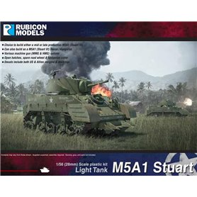 Rubicon Models 1:56 M5A1 Stuart / M5A1 Recce - LIGHT TANK