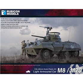 Rubicon Models 1:56 M8 Greyhound / M20 Scout Car - LIGHT ARMOURED CAR