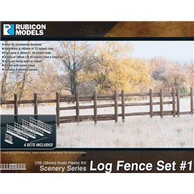 Rubicon Models 1:56 Log Fence Set 1