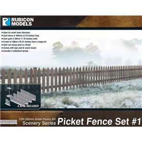 Rubicon Models 1:56 Picket Fence Set 1
