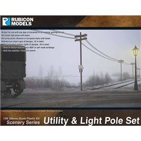 Rubicon Models 1:56 Utility & Light Pole Set