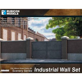 Rubicon Models 1:56 Industrial Walls Set
