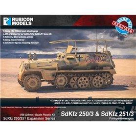 Rubicon Models 1:56 Zestaw dodatków Sd.Kfz.250/3 / Sd.Kfz.251/3 EXPANSION SET - Funkpanzerwagen