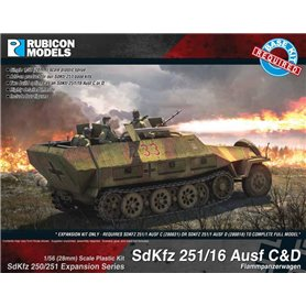 Rubicon Models 1:56 SdKfz 251/16 Ausf C/D Expansion Set