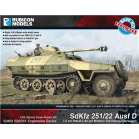 Rubicon Models 1:56 Zestaw dodatków Sd.Kfz.251/22 Ausf D EXPANSION SET