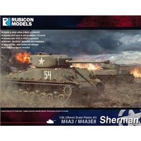 Rubicon Models 1:56 M4A3 / M4A3E8 Sherman - US MEDIUM TANK