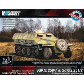 Rubicon Models 1:56 Zestaw dodatków Sd.Kfz.250/251 EXPANSION SET - SdKfz 250/7 & 251/2 Mortar Carrier