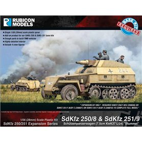 Rubicon Models 1:56 Zestaw dodatków Sd.Kfz.250/251 EXPANSION SET - SdKfz 250/8 & 251/9 Stummel