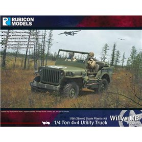 Rubicon Models 1:56 Willys MB - 1/4 TON 4X4 UTILITY TRUCK