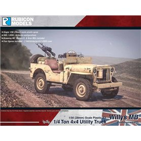 Rubicon Models 1:56 Willys MB - 1/4 TON 4X4 UTILITY TRUCK - COMMONWEALTH